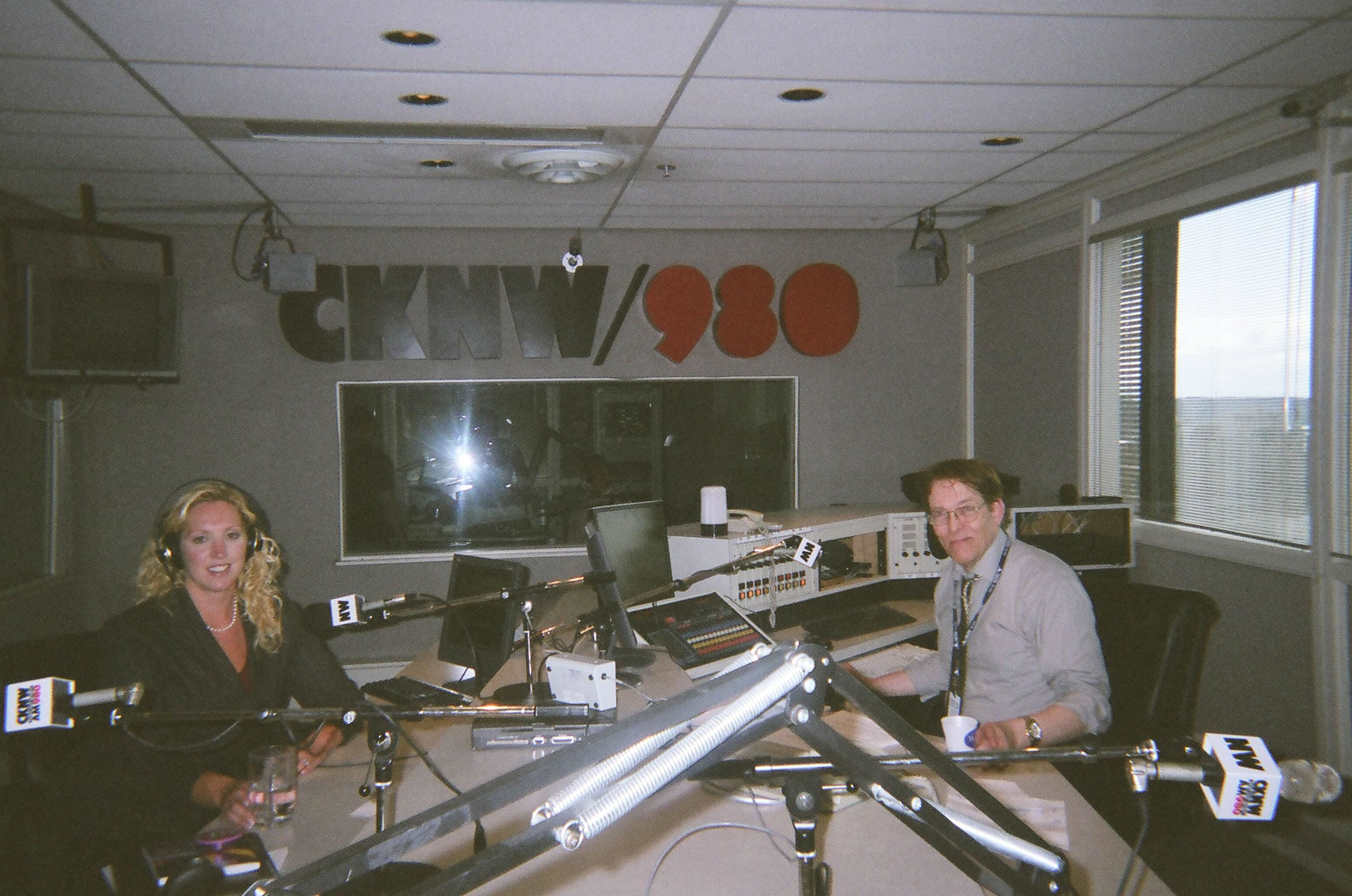 Laila Yuile and CKNW personality Tom Jefferies