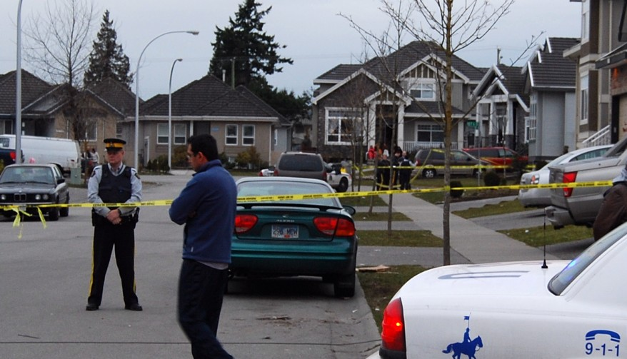 RCMP tape off the area around 127 st. and 67 ave.