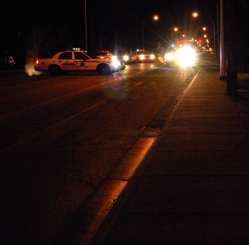 68th avenue blocked off to traffic as police investigate reports of shots fired near the scene of Friday nights shootout