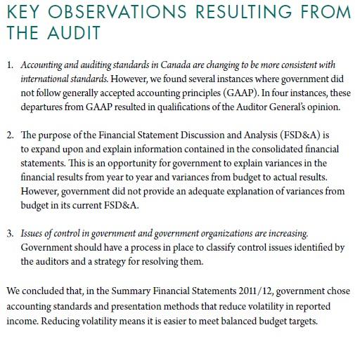 audit observations
