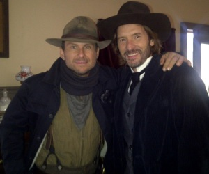 BC actor Adrian Hough with Christian Slater