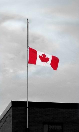 Canadaflaghalfstaff