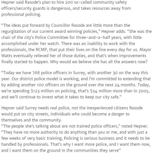 Hepner press release