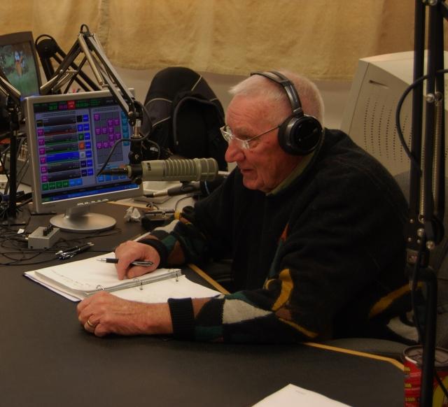 In studio with Ben Meisner, 2012