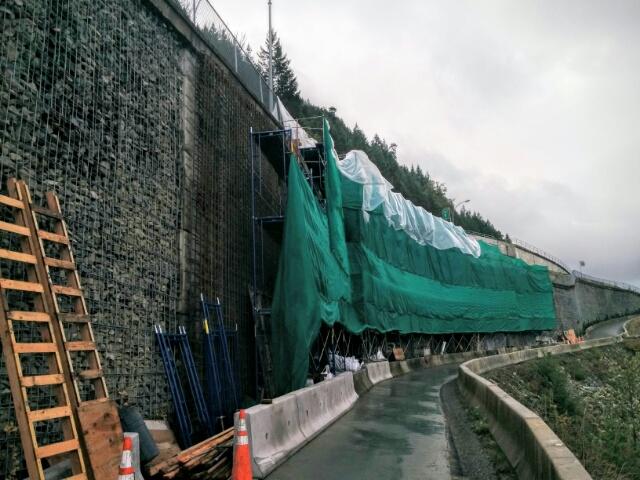 Pasco Road retaining wall rebuild.