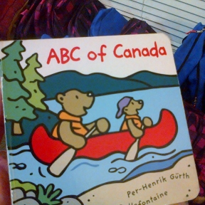 One of the many Canadian themed books & supplies donated.