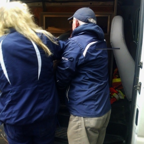 All loaded into the van and back to OWL.
